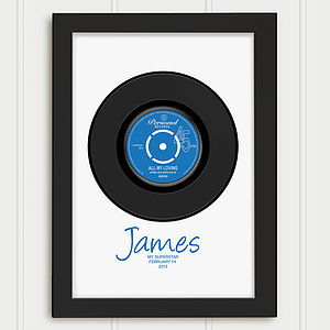 Personalised Birthday Record Print