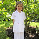 Girl's Butterfly Cotton Pyjamas