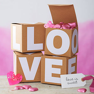 Monogramed Gift Box - wedding favours