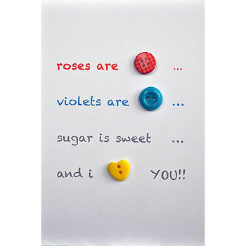 'I Love You' Button Card