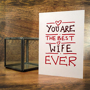 Best Ever Wife Card - shop by occasion