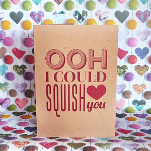 'Squish You' Card