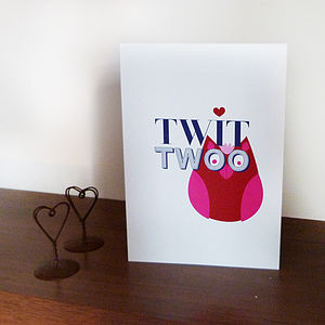 'Twit Twoo' Card - anniversary cards