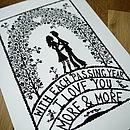 'I Love You' Print