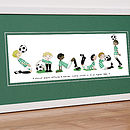 Personalised Football Name Print Green Mount