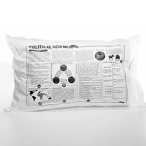 Political Science Printed Study Pillowcase - bedroom