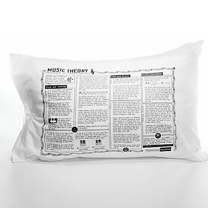 Music Theory Printed Study Pillowcase - bed, bath & table linen