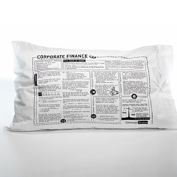 Corporate Finance Printed Study Pillowcase