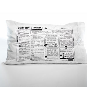 Corporate Finance Printed Study Pillowcase - the utterly genius collection