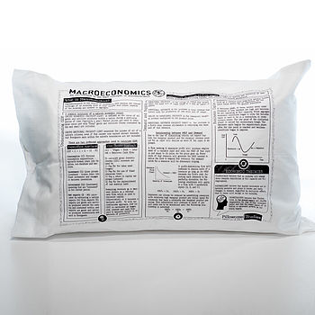 Economics Printed Study Pillowcase