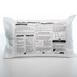 Economics Printed Study Pillowcase - bed, bath & table linen