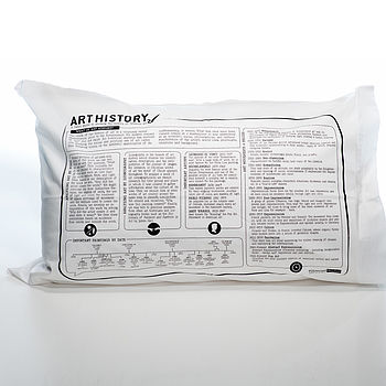 Art History Printed Study Pillowcase