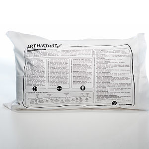 Art History Printed Study Pillowcase - bed, bath & table linen