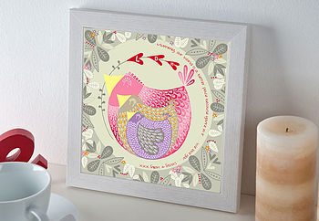 Personalised Mama Bird Framed Print