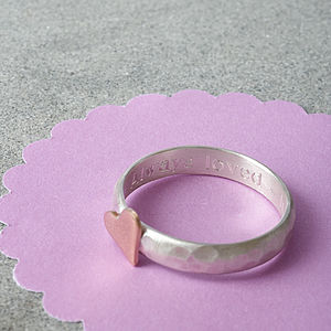 Portscatho Heart Personalised Ring