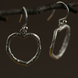 Heart Earrings In Silver