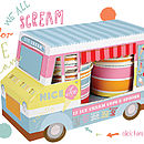 Sweet Treats Van With Set Of Cups And Spoons