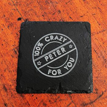 Personalised Engraved Slate Coaster