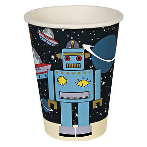 Robot Space Party Cups - mugs