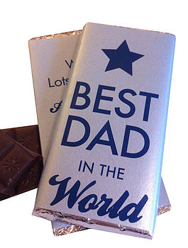 Best Dad In The World Chocolate Bar