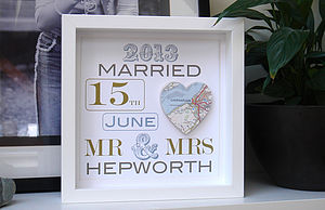 Personalised Wedding Map Picture/ Wedding Gift