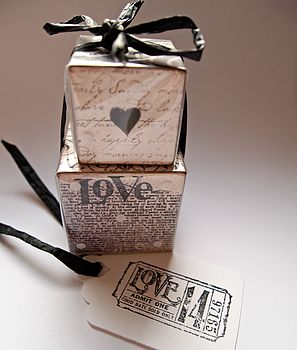 Set Of Two Personalised Love Blocks