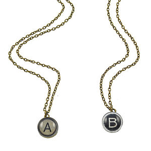 Typewriter Initial Necklace - necklaces & pendants