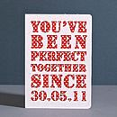 Personalised 'Perfect Together Since…' Card