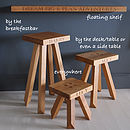 Personalised Oak Stool