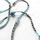 Labradorite And Blue Quartz Long Necklace