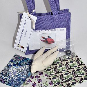 Decorate With Liberty Fabric Bird Craft Kit - stationery & creative activities