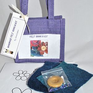 Handmade Felt Brooch Craft Kit - gifts for children to give