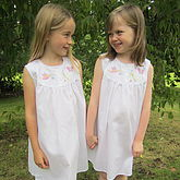 Girl's Dragonfly Cotton Nightdress - easter