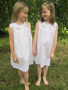 Girl's Dragonfly Cotton Nightdress - children's clothing