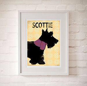 Scottish Terrier Dog Illustration - pictures, prints & paintings