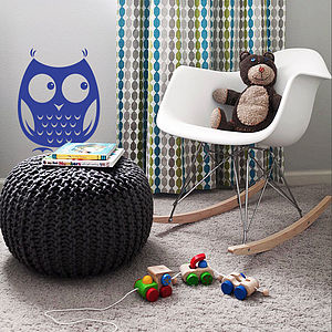 Woodland Owl Wall Sticker Decal - baby & child sale