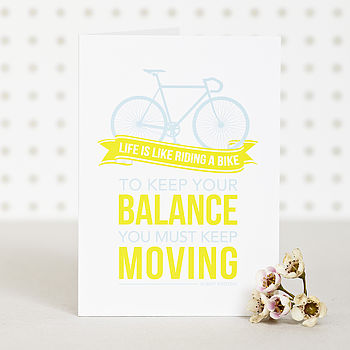 'Keep Your Balance' Bike Card