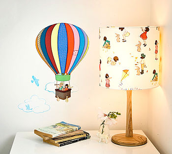 Single Hot Air Balloon Wall Stickers