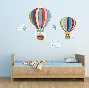 Hot Air Balloons Wall Stickers - painting & decorating
