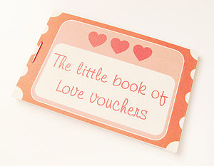 Love Voucher Token Book - cards, ribbon & wrap