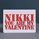 Personalised 'You Are Mine' Card