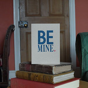 'Be Mine' Letterpress Valentine's Card