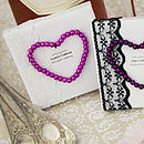 Personalised Wedding Heart Place Setting