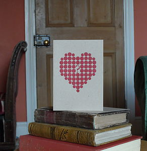 Heart Letterpress Valentines Card