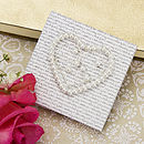 Personalised Wedding Heart Favour Canvas