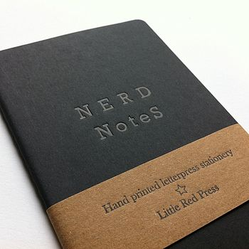 Nerd Notes Letterpress Moleskine Notebook