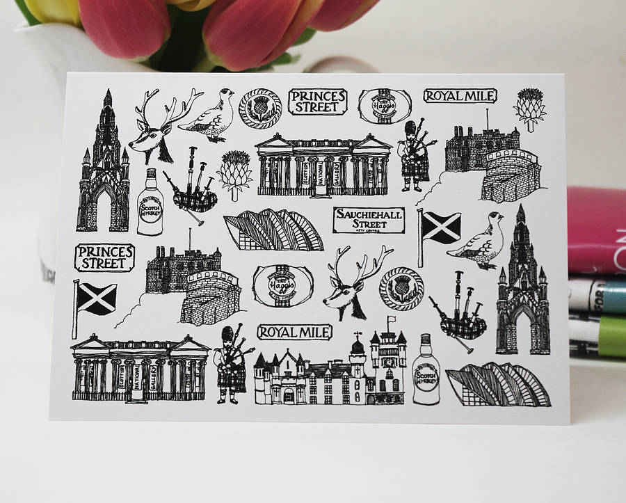 Illustrated Scotland Card