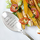 Personalised Silver Plated Table Spoon