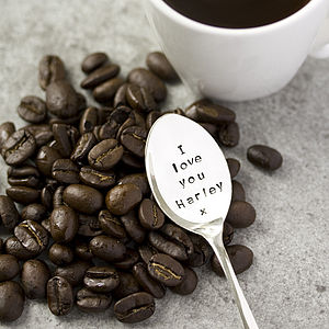Personalised Silver Plated Coffee Spoon - gifts for him
