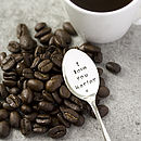 Personalised Silver Plated Coffee Spoon